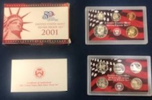 2001 Silver Proof Sets