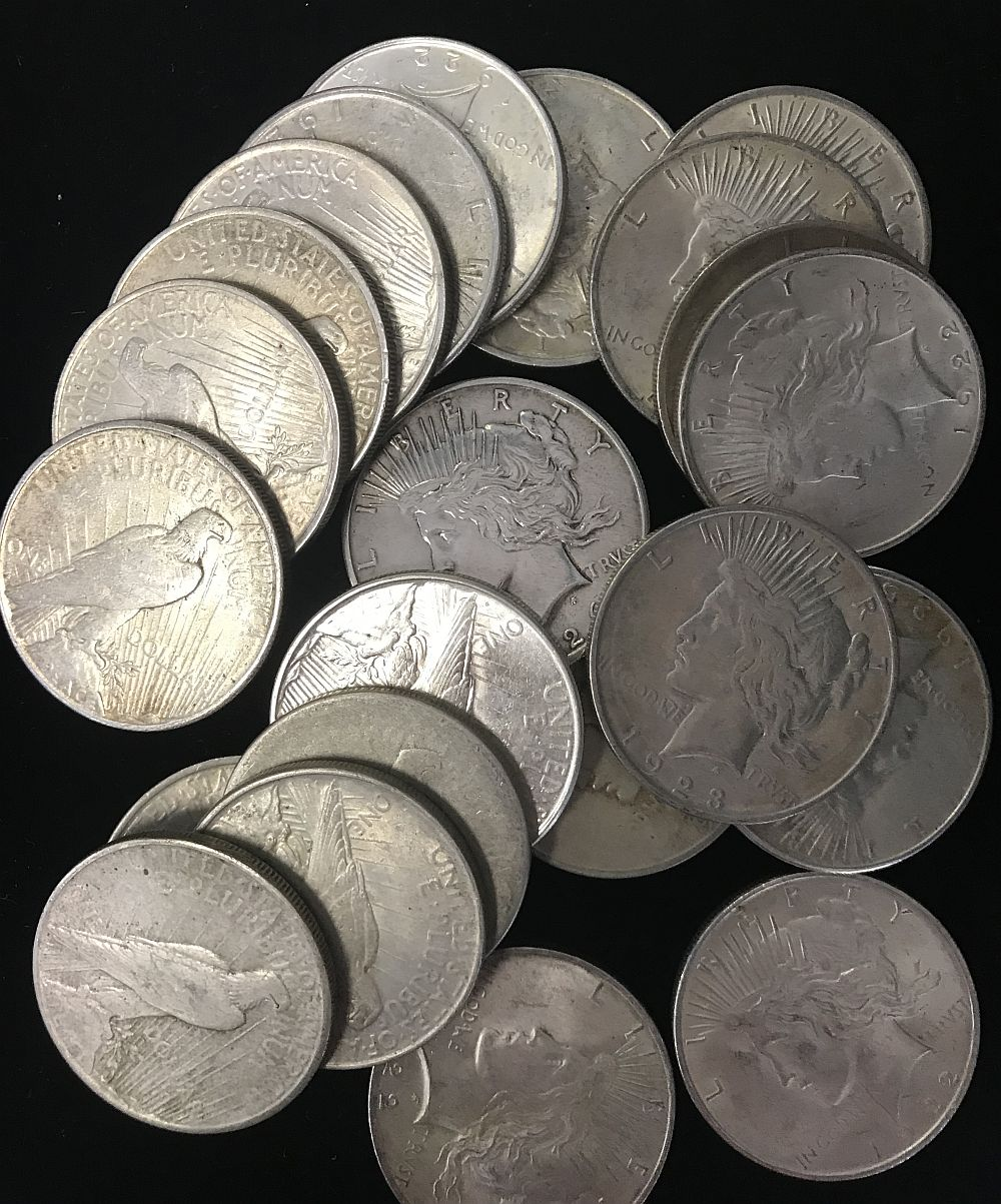 90% Silver US Peace Dollars