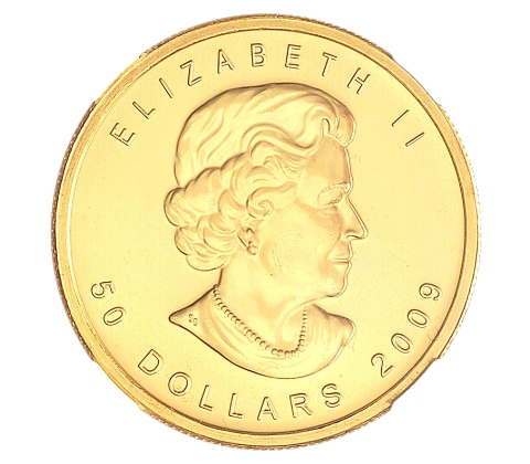 Canada Half (1/2) Oz Gold $50 Maple Leaf Coin