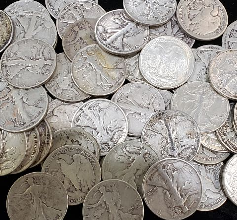 90% Silver Walking Liberty Halves